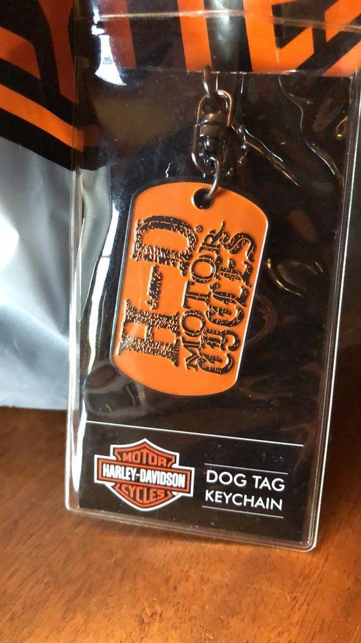 H-D Dog Tag Keychain