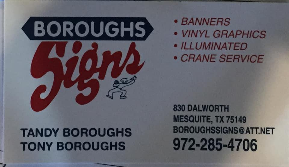 Boroughs Sign Co. Mesquite TX