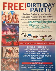 CHILDRENS PARTY PACKAGE GIFT CERTIFICATE