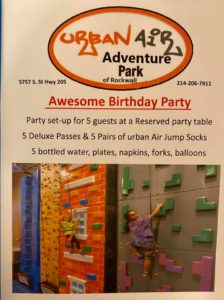 1 Party pack for 5 kids