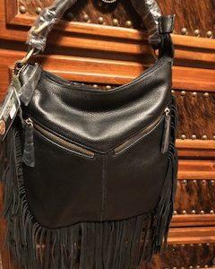 Ladies Conceal Carry Purse - Black Fringe