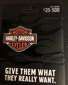 Harley Davidson Gift Card