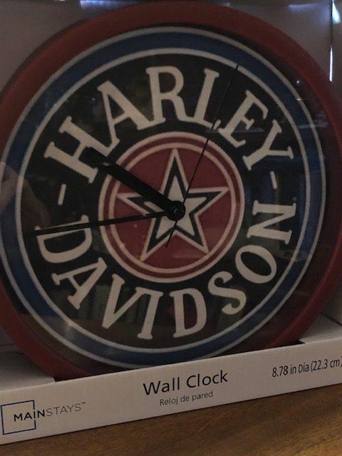 Harley Davidson Star Clock