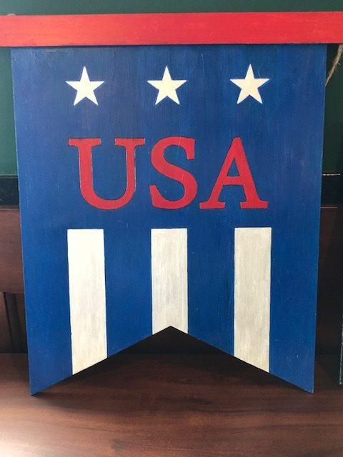 Blue USA Art