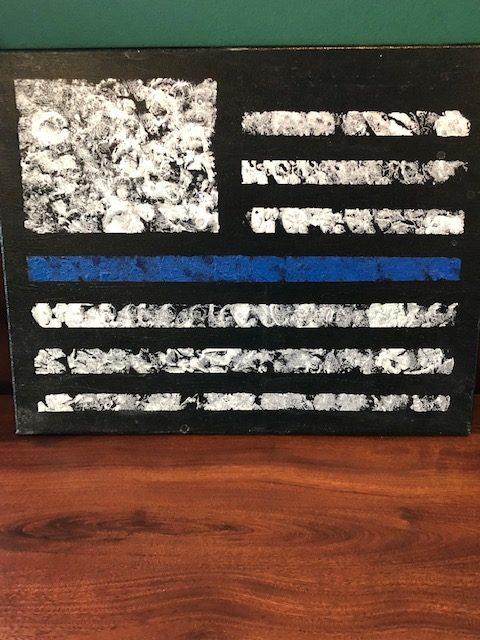Thin Blue Line Wall Art