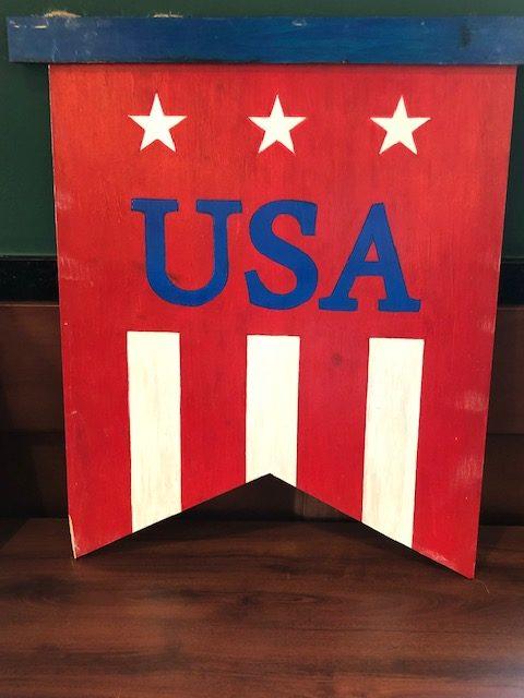 Red USA Art