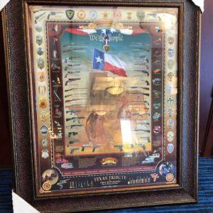Texas Gun & Badge Art