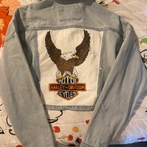 Handprinted Denim Jacket
